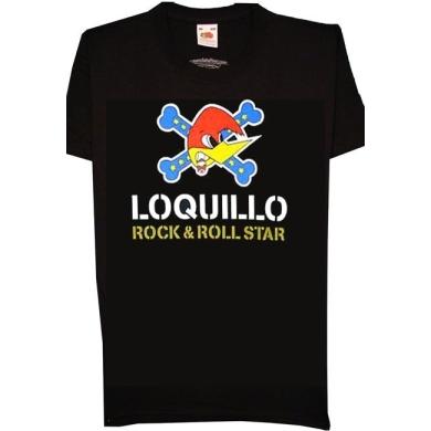Camiseta Loquillo Pajaro Rocknroll