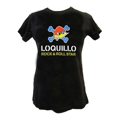Camiseta Mujer Loquillo Pajaro Rock&Roll