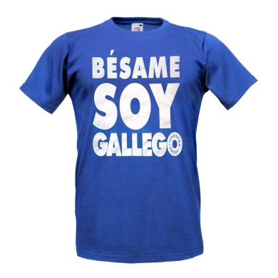 Camiseta Siniestro Total Bésame Soy Gallego Azul