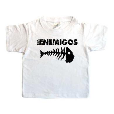 Camiseta Los Enemigos niño Raspa blanca