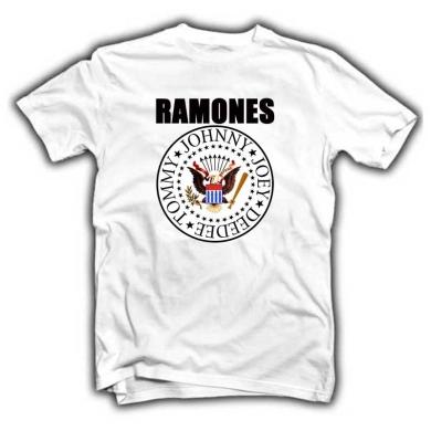 Camiseta Ramones Blanca Logo Clásico