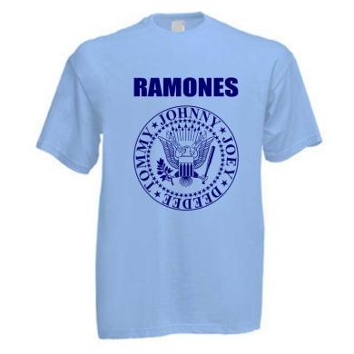 Camiseta Ramones Azul Claro